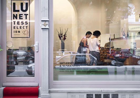 Lunettes Selection, an optical shop in Berlin, an image from outside