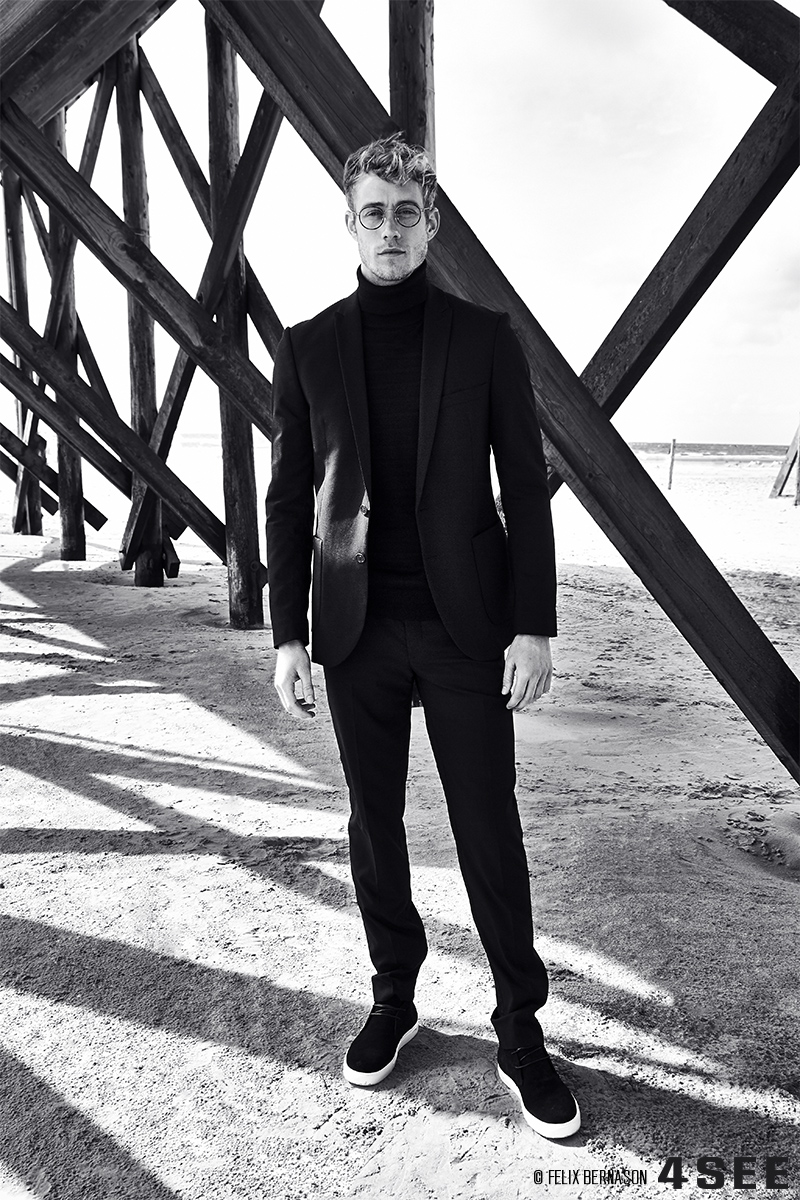 Kevin Pabel @ Kult Models with Lindberg Rim Lex, shot by Felix Bernason for 4SEE art issue