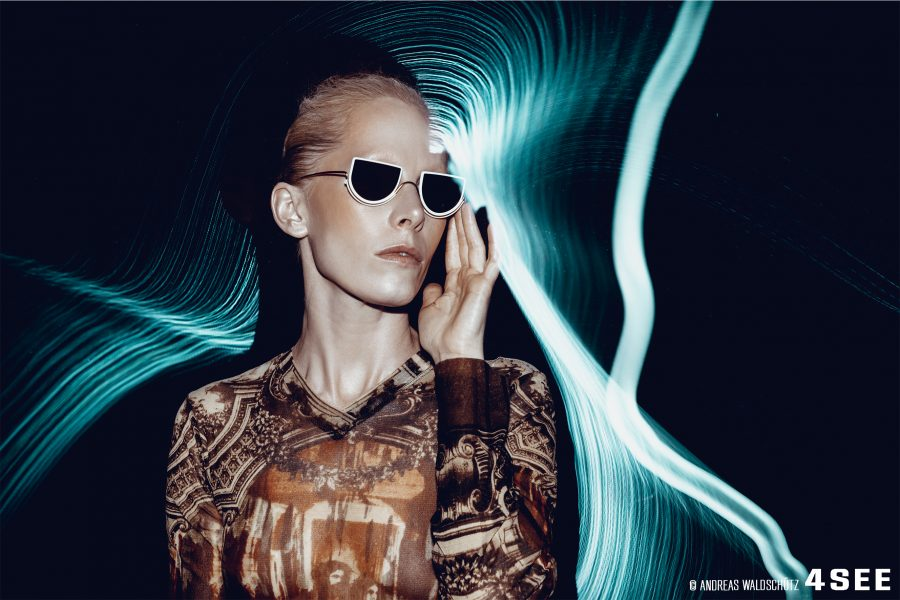 Susanne Wuest Sunglasses by WIRED Lightseep Blue Andreas Waldschutz