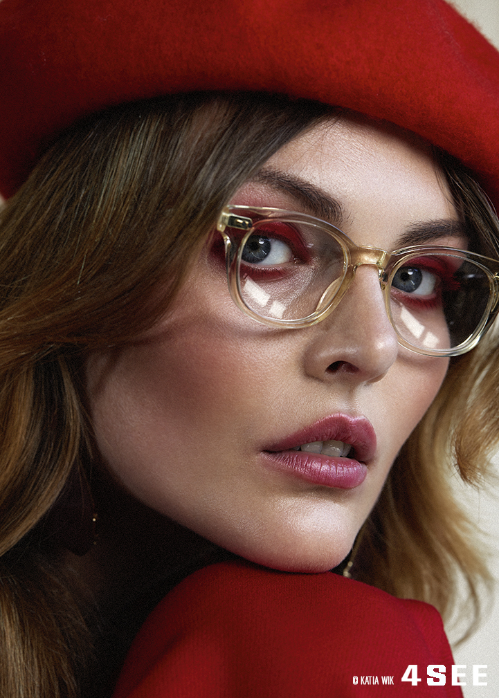 Sina model face glasses by SALT. Landry Katia Wik
