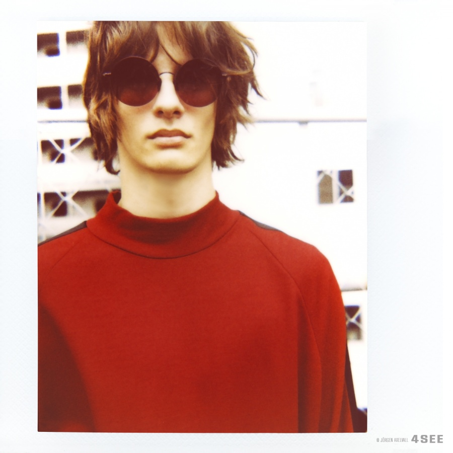 Male Model Sunglasses by BURBERRY Mirrored Round Frame Sunglasses photography by JÖRGEN AXELVAL