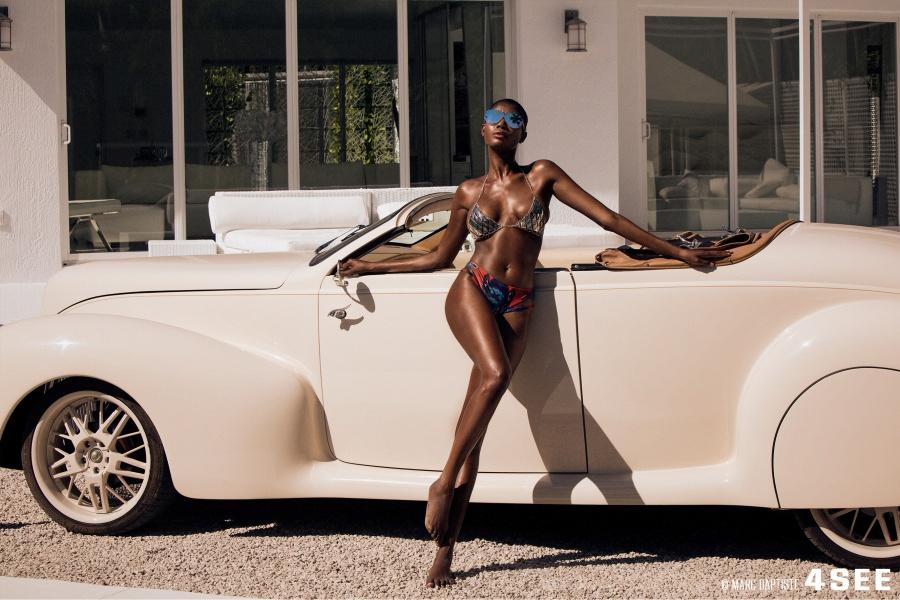 Female Model Swimsuits by Lila Nikola car photography by Marc Baptiste