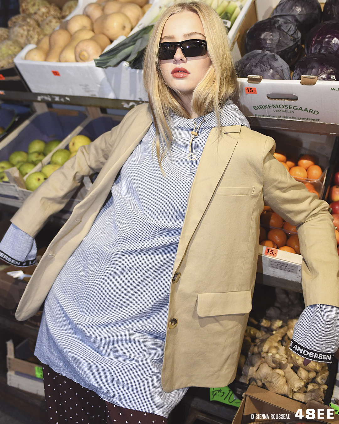 SCANDI-SAVVY eyewear editorial by 4SEE, featuring black skinny sports sunglasses by Oakley