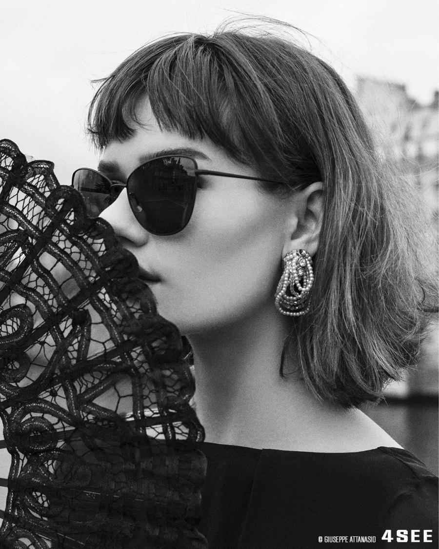 Allie Clarks Paris sunglasses SALT. SALT. SHERRI-ANN IN BLACK SAND GIUSEPPE ATTANASIO