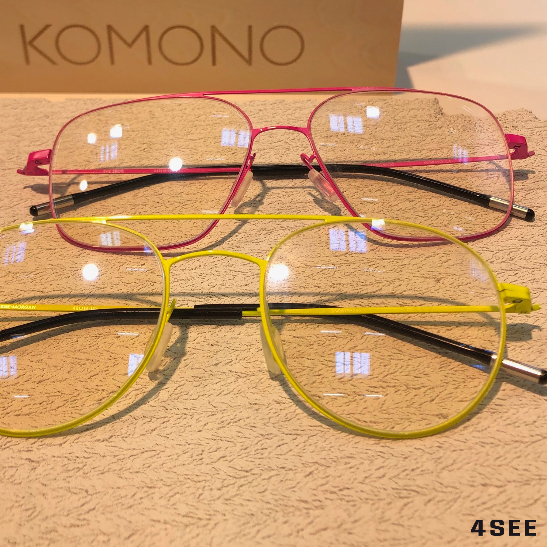 COLOR KOMONO EddieNeonPink MorganNeonYellow
