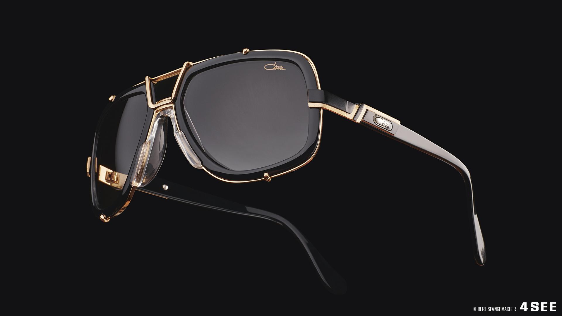 CAZAL LEGENDS 656 001-3 Black with Gold Trim