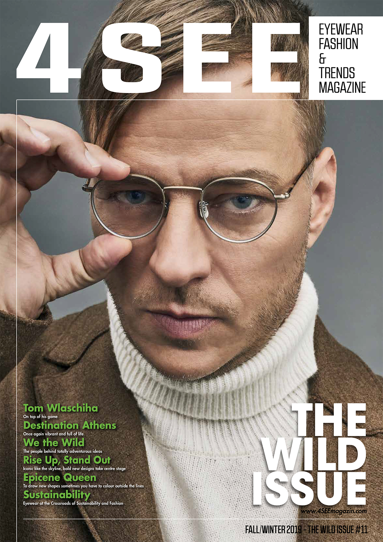 Tom Wlaschiha for 4SEE Photography by Bert Spangemacher Interview by Justin Ross Eyewear by Eyevan