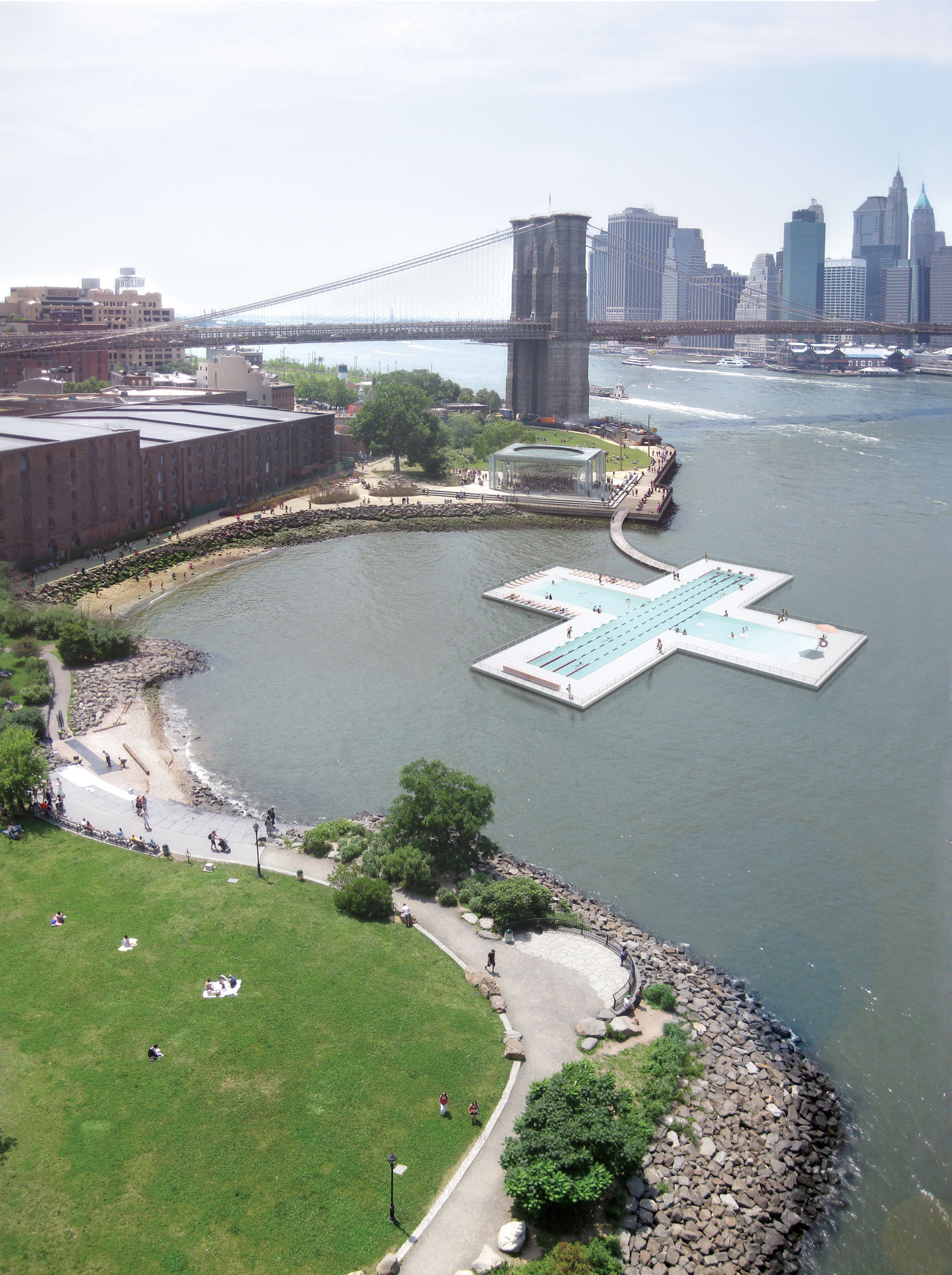 The Plus Pool in NYC