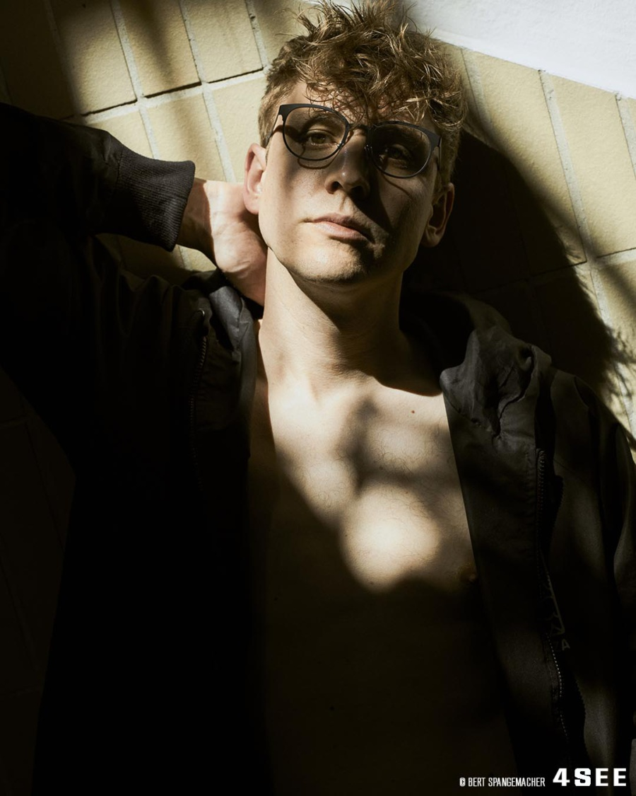 David Koch from The Great Harry Hillman, wearing Blackfin glasses, shot by Bert Spangemacher