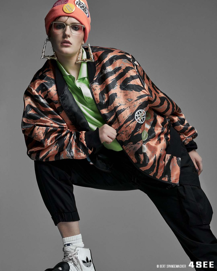 Eyewear editorial featuring outfits by a Berlin Designer Tzuji with Lindberg glasses