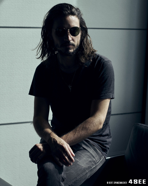 Egopusher's Tobias Preisig wearing Oliver Peoples, photographed by Bert Spangemacher