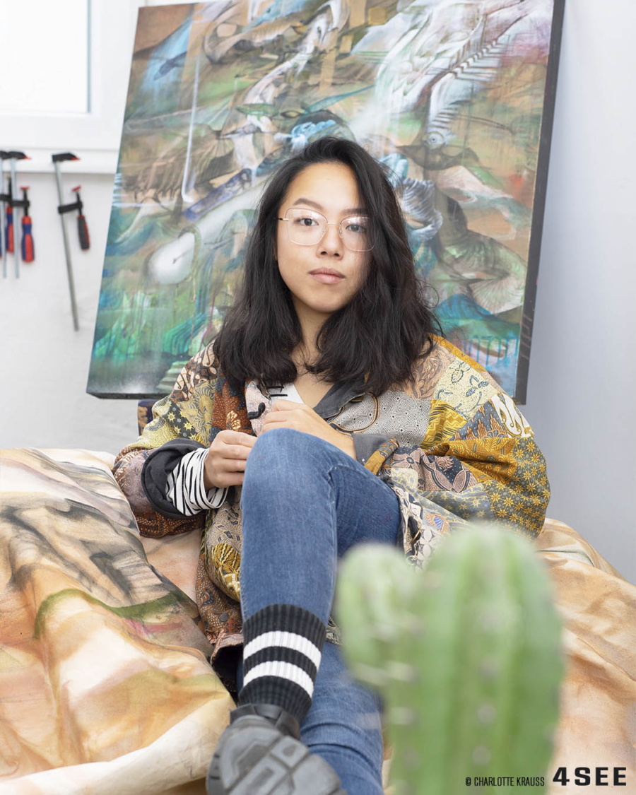 Artist Cecilia Lo in Berlin for 4SEE, photographed by Charlotte Krauss