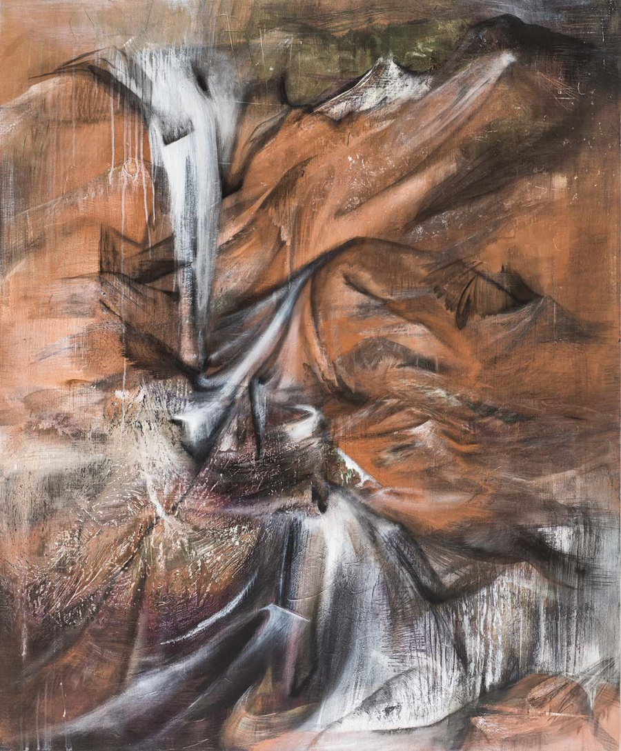 """Drifting"" by Cecilia Lo (2018), mixed media on panel, 122 x 152cm"